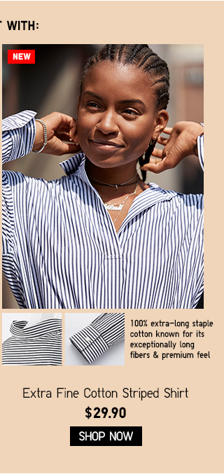 Extra Fine Cotton Striped Shirt - SHOP SHIRTS & BLOUSES