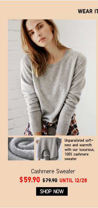 Cashmere Sweater - NOW $59.90 - SHOP SWEATERS