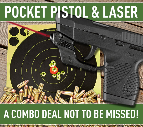 Pocket Pistol & Laser. A Combo Deal Not To Be Missed!