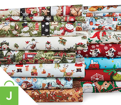 ENTIRE STOCK Christmas Cotton and Holiday Doodles Juvenile Apparel Fabrics.