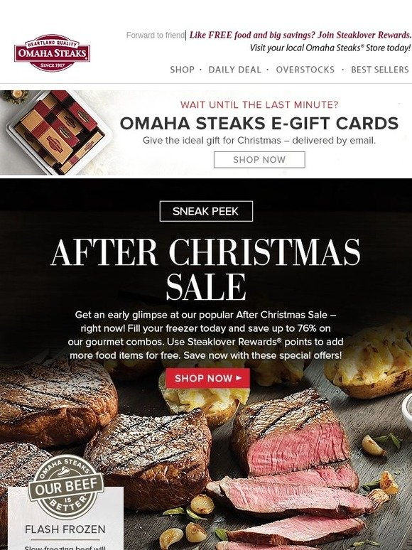 omaha steaks sneak peek at after christmas savings milled