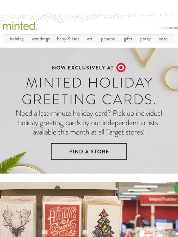 Minted holiday greeting cards by minted now at target milled m4hsunfo