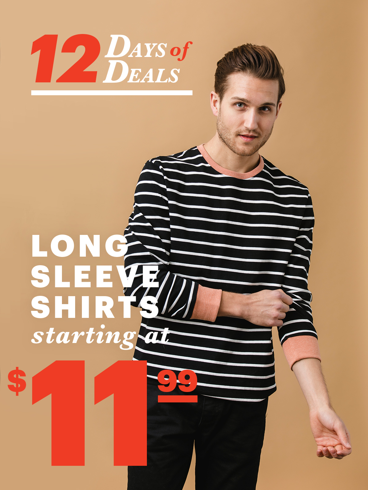 12 Days Of Deals: Day 11 Long Sleeve Shirts Starting at $11.99