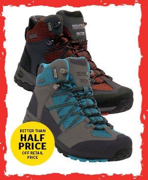 Regatta Mens and Womens Samaris Mid WP Walking Boots