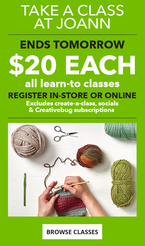 Take a class. Learn-to Classes $20 each. Thursday to Sunday. December 21 to 24. Sign up in-store or online. BROWSE CLASSES.