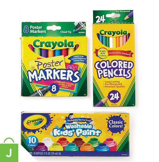 Crayola Art Supplies and Activity Kits.