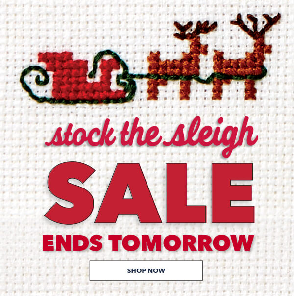 Ends Tomorrow. Stock The Sleigh Sale. Save Up To 70%. SHOP NOW.