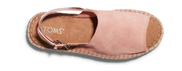 Bloom Suede Rose Gold Specchio Women's Clara Espadrilles