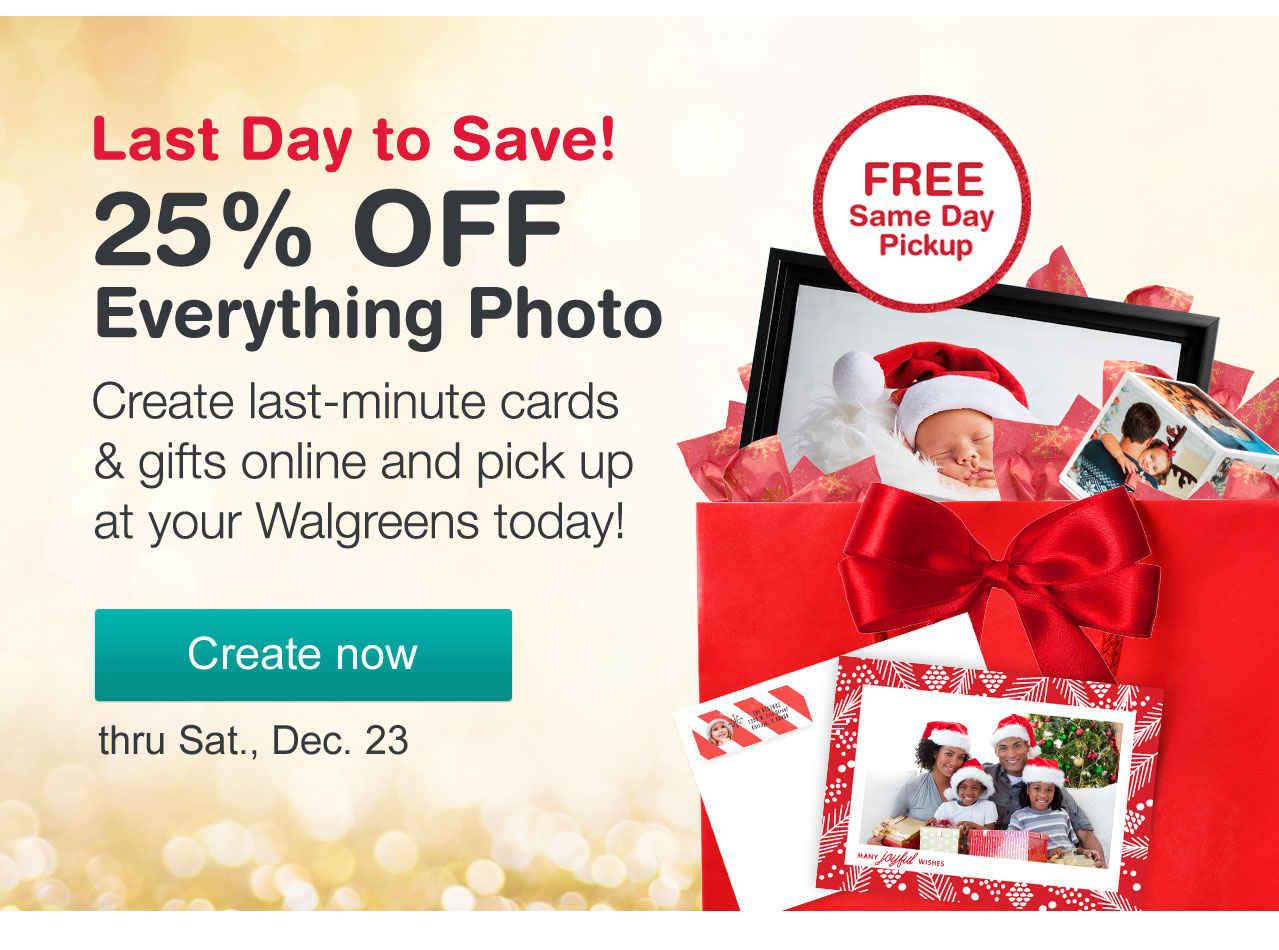 Walgreens: Don\'t forget we\'re open. Hurry in for quick gifts & Xmas ...