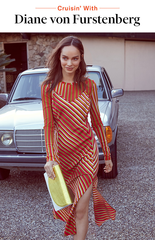 Cruisin' With Diane von Furstenberg - Bold graphics, vintage-y accessories, and an electric palettetake the latest from DVF for a spin.