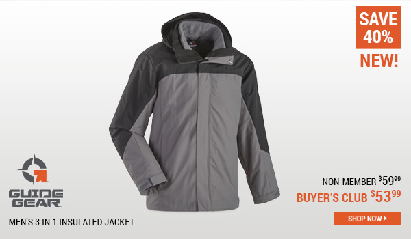 Guide Gear Men's 3 in 1 Insulated Jacket