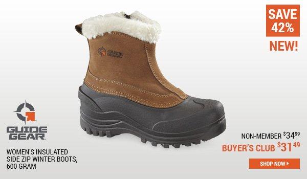 Guide Gear Women's Insulated Side Zip Winter Boots, 600 Gram