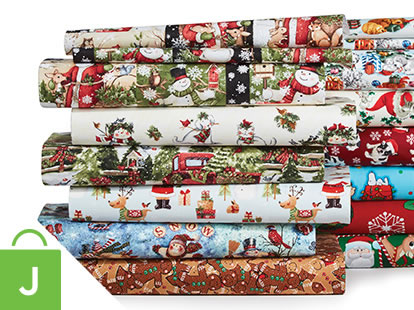 Christmas Cotton and Holiday Doodles Juvenile Apparel Fabrics.