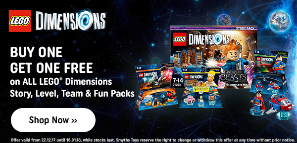 LEGO Dimensions - Buy One Get One FREE on all Story, Level, Team & Fun Packs!