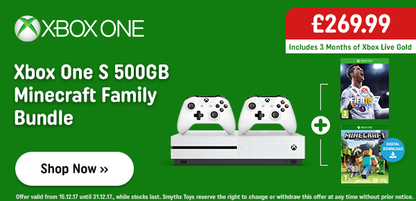 Xbox One S 500GB Minecraft Family Bundle