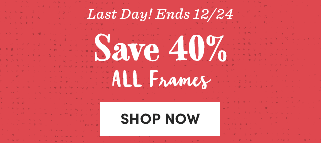 Save 40% All Frames