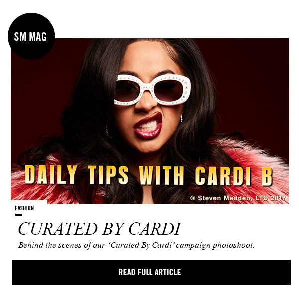 Curated by Cardi: Behind the scenes of our CARDI B campaign. Read full article