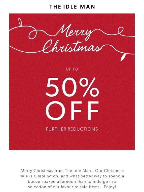 d8d8521066da The Idle Man  Further Reductions In The Christmas Day Sale