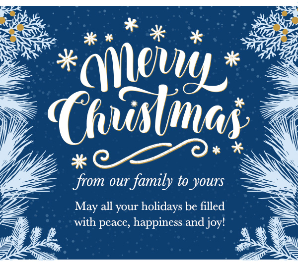 merry christmas from our family to yours may all your holidays be filled with peace