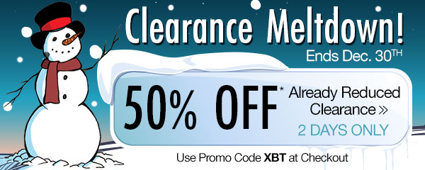 50% OFF Already Reduced Clearance!