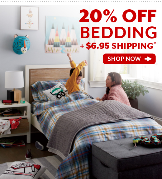 Shop 20% OFF Bedding Plus $6.95 Shipping