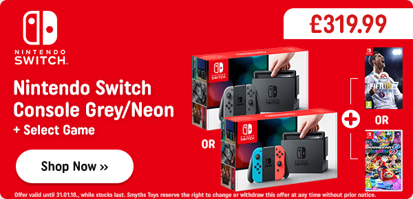 Nintendo Switch Neon Console & One Select Game