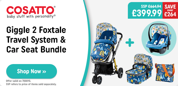 Cosatto Giggle 2 Fox Tale Travel System & Car Seat Bundle
