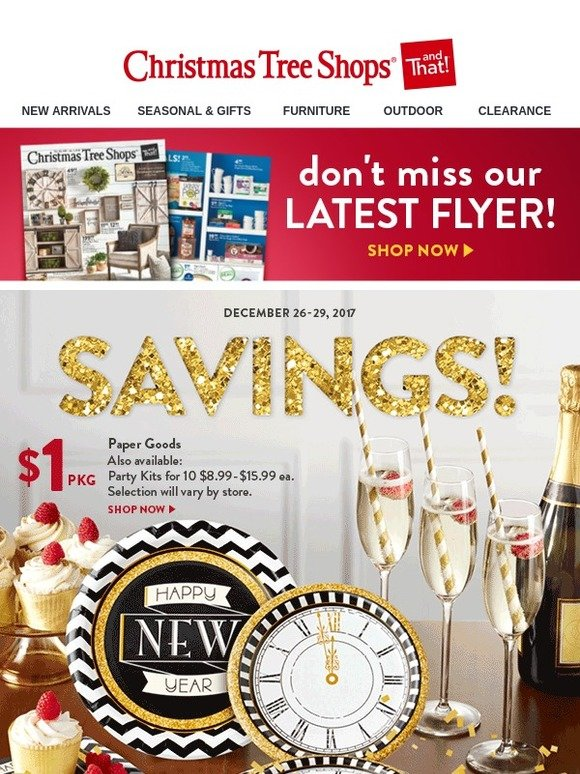 christmas tree shops 321savings our clearance event our latest flyer milled