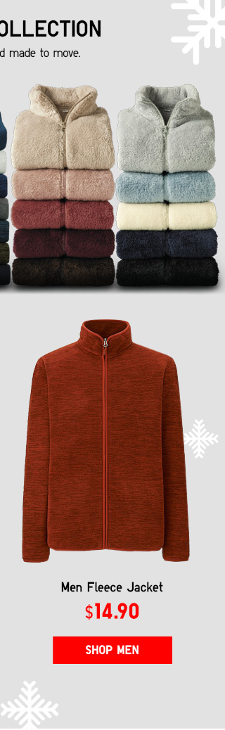 MEN FLEECE JACKET - NOW $14.90 - SHOP CLASSIC FLEECE