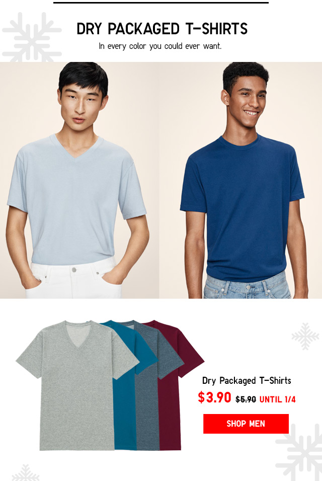 Men's Dry Packaged T-Shirts - NOW $3.90