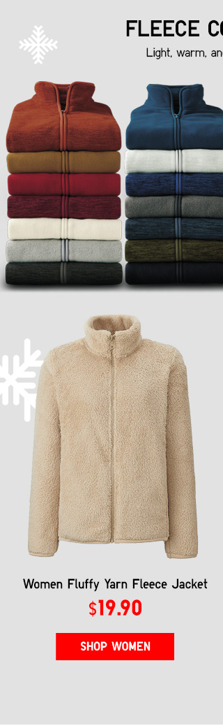 WOMEN FLUFFY YARN FLEECE - NOW $14.90 - SHOP FLUFFY FLEECE
