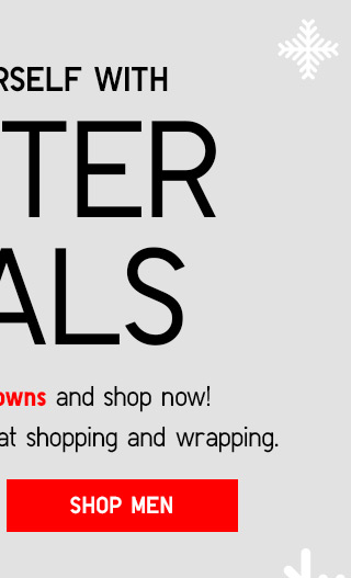 WINTER DEALS - SHOP MEN