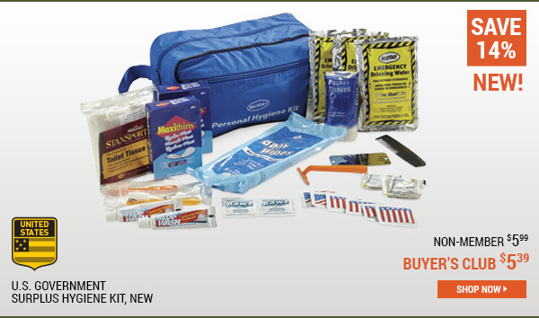 U.S. Government Surplus Hygiene Kit, New