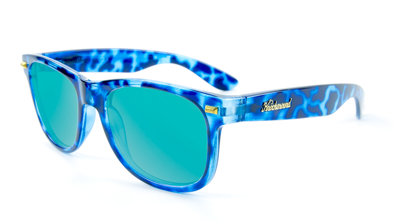 Image of Glossy Blue Tortoise Shell / Aqua Fort Knocks