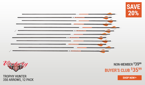 Victory Trophy Hunter 350 Arrows, 12 Pack