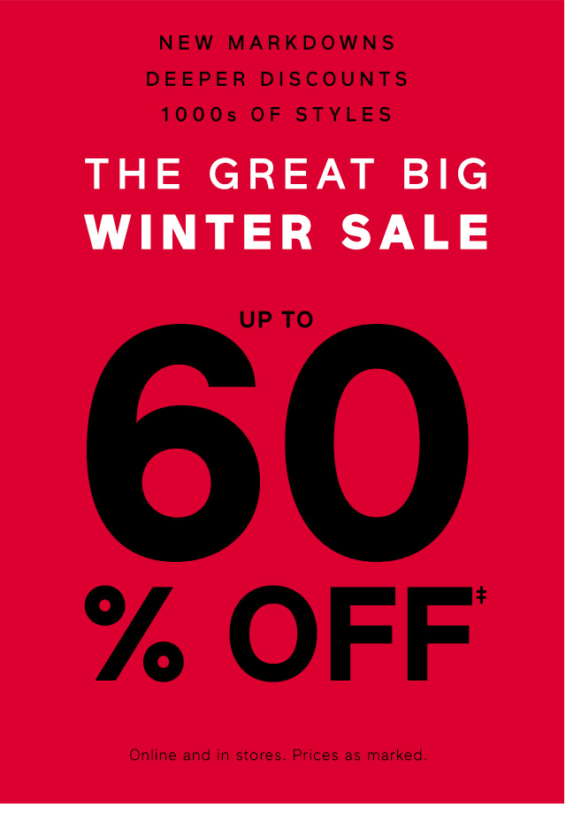 THE GREAT BIG WINTER SALE | UP TO 60% OFF