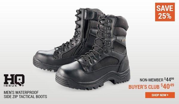 HQ ISSUE Men's Waterproof Side Zip Tactical Boots