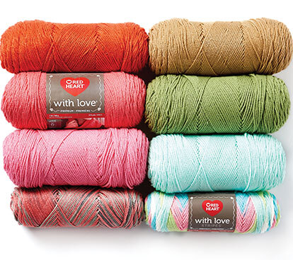 Red Heart With Love Yarn.