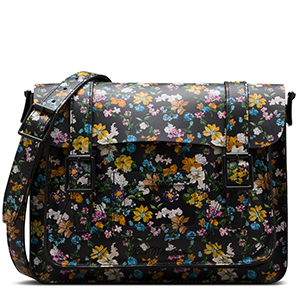 "11"" Darcy Floral Leather Satchel"