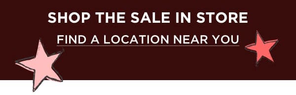 Shop The Sale In Store