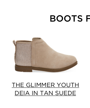 The Glimmer Youth Deia in Tan Suede