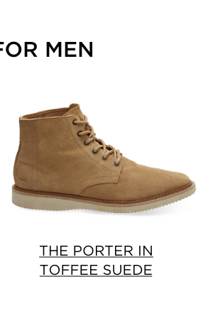 The Porter in Toffee Suede
