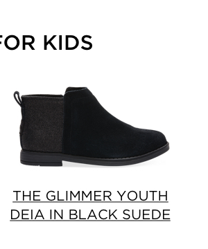 The Glimmer Youth Deia in Black Suede