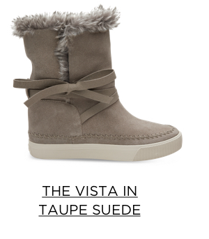 The Vista in Taupe Suede
