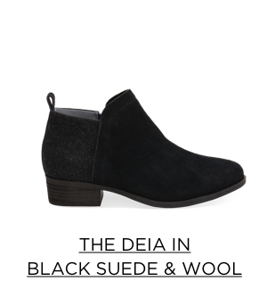 The Deia in Black Suede & Wool