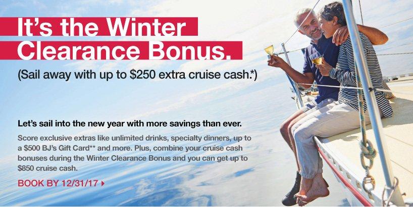 It's the Winter Clearance Bonus
