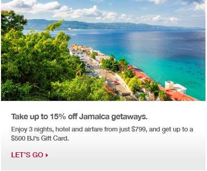 Take up to 25% off Jamaica getaways