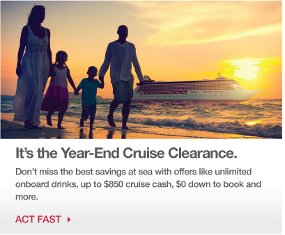 It's the Year-End Cruise Clearance