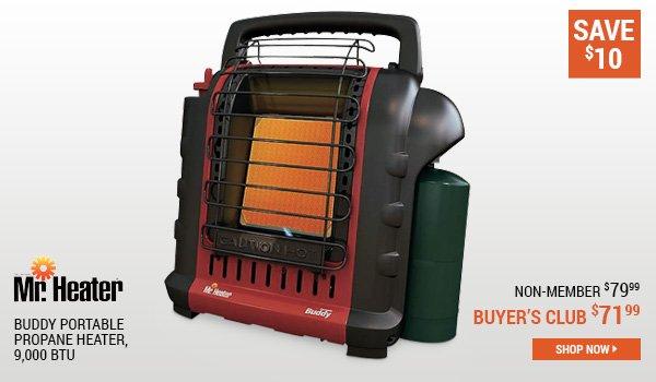 Mr Heater Buddy Portable Propane Heater, 9,000 BTU