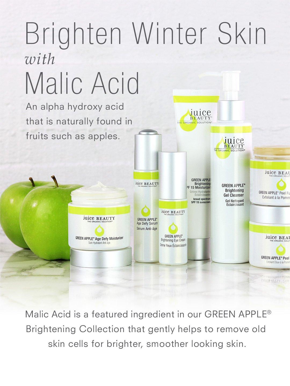 Brighten Winter Skin with Malic Acid